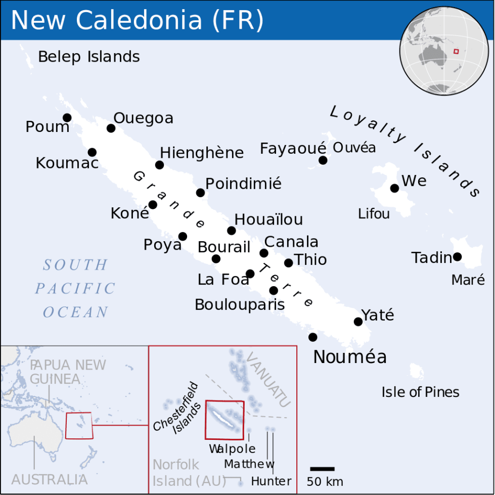 New Caledonia map