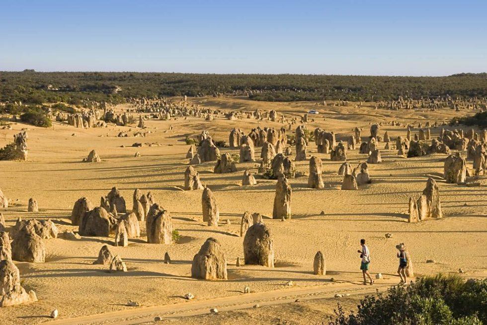 Pinnacles in Nambung National Park in Western Australia