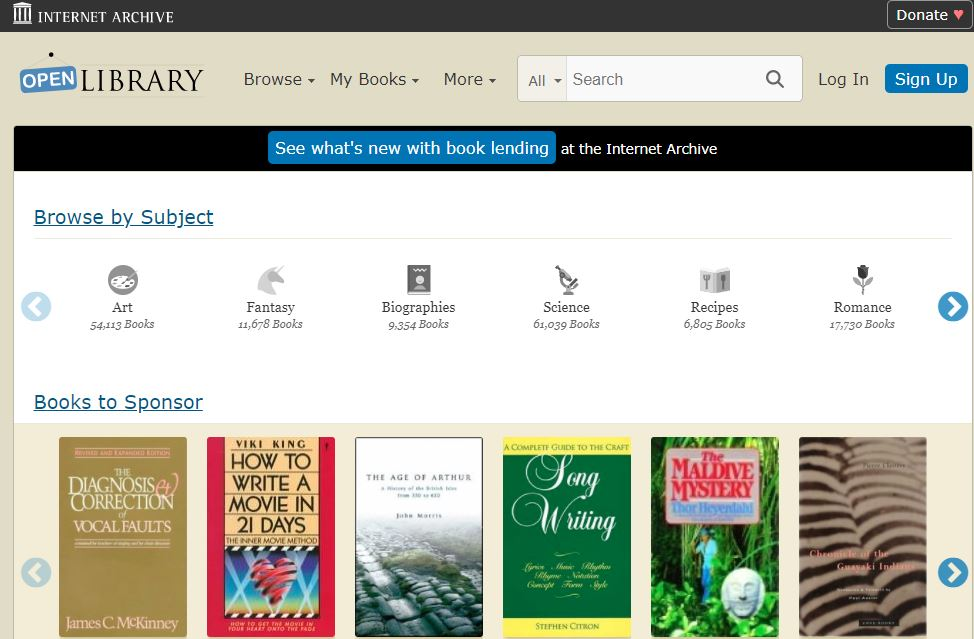 Open Library - Free books online