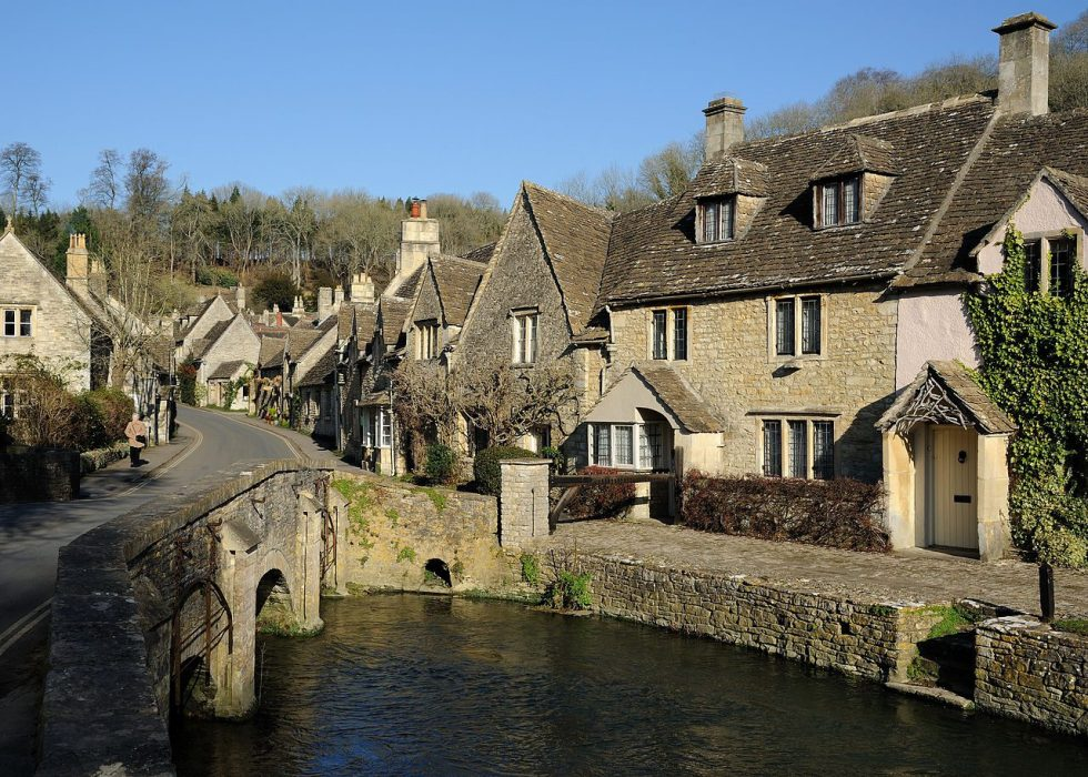 This Cotswold village is made from Cotswold stone.