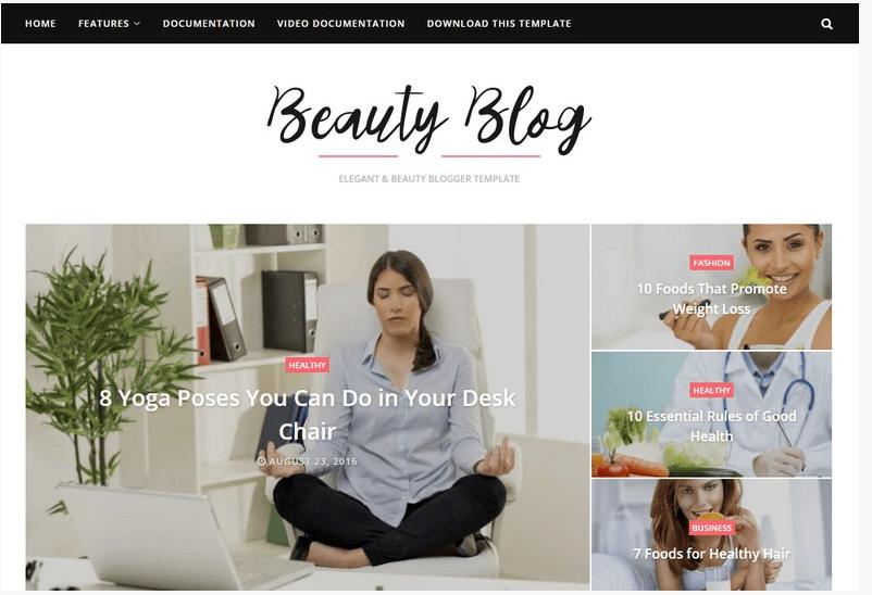 beauty blog blogger template