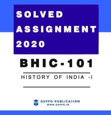 BHIC-101 History of India –I