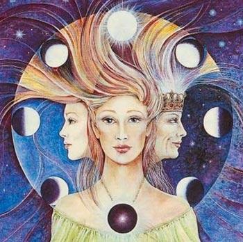 ilustração da deusa tríplice
