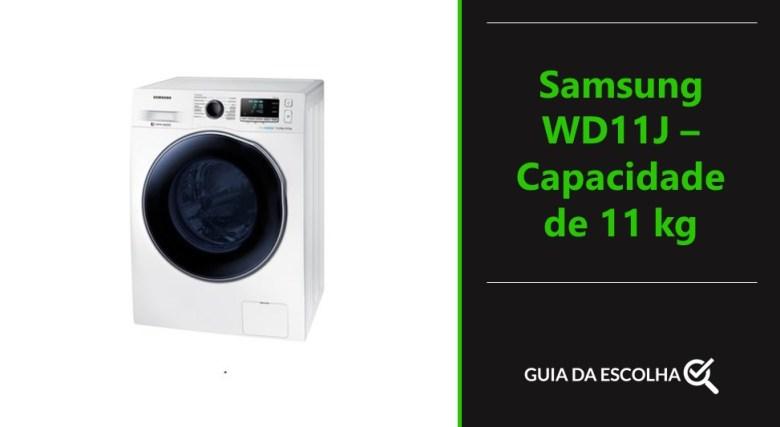 Samsung WD11J – Capacidade de 11 kg é uma das melhores lava e seca do mercado