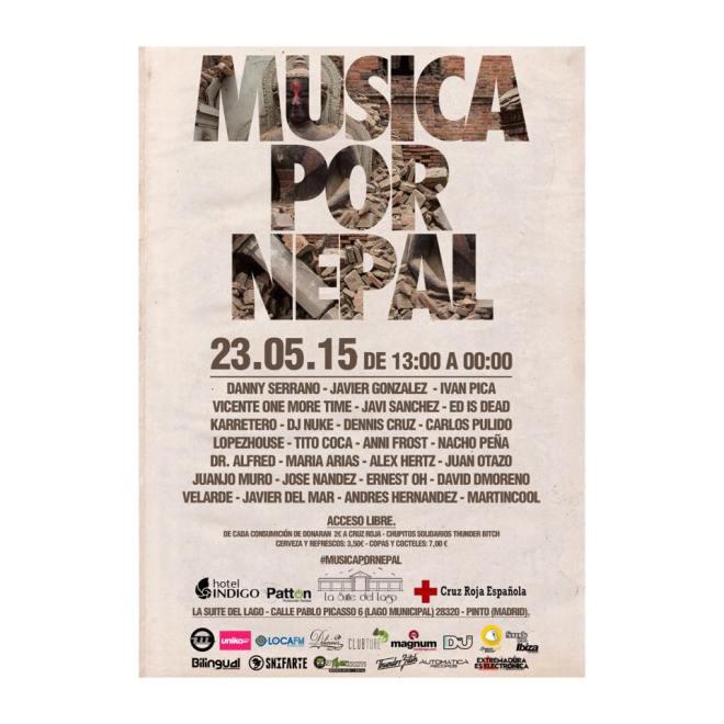 musica por nepal flyer