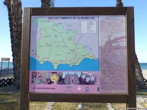 Antiguo mapa de la Red de Caminos en Almuñécar