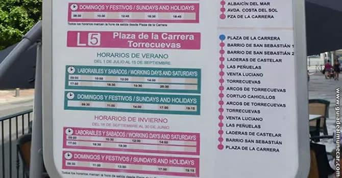 Autobús Línea 5 Almuñécar a Torrecuevas.