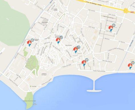 Tapeo en Almuñécar, rutas de bares para tapear, tapas variadas y clásicas del pueblo.