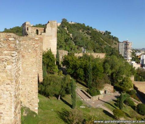 Alcazaba de Málaga es un palacio fortaleza de los gobernantes musulmanes