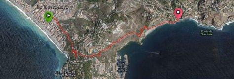 Senderismo, GPS Antiguo Camino de los Pescadores, La Herradura - Cotobro