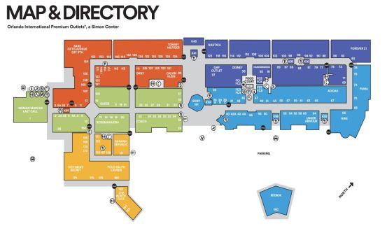 mapa international mall outlet