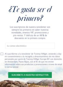 TOMMY EMAIL SUSCRIPTION