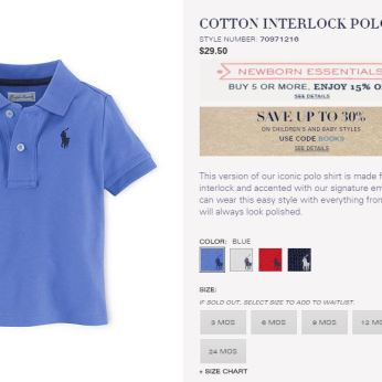 MUST HAVE BABY BOY POLO RALPH LAUREN 1