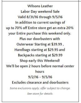 Deals Lake Buena Vista Factory Store Septiembre 12