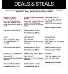 Deals Orlando International Premium Outlet Septiembre 03