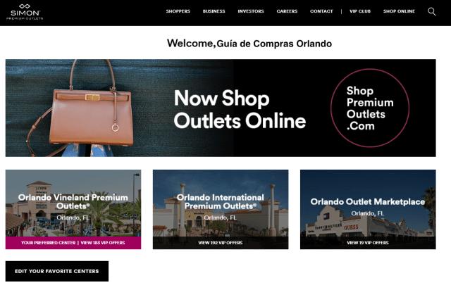 Registro nuevo usuario VIP Shoppremiumoutlets.com 3