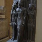 Escultura do rosto faraó Ramsés II