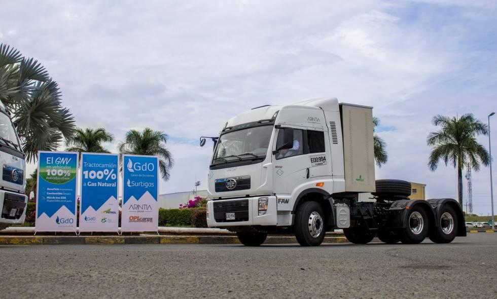 Transporte de carga a gas arranca en Colombia