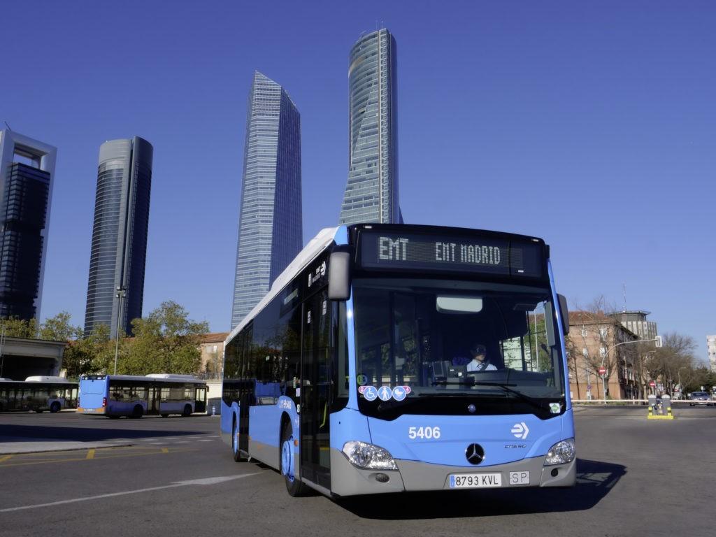 La EMT de Madrid contará con 672 nuevos buses Mercedes-Benz a gas