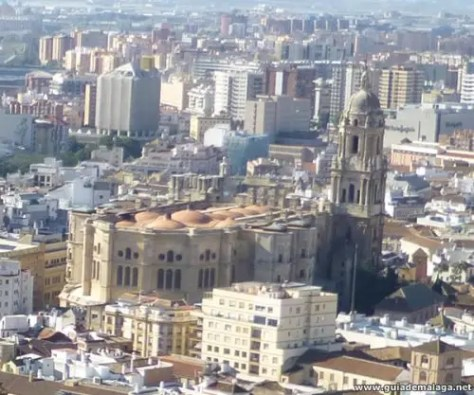 Vista Panorámica de La Manquita, Catedral de Málaga.