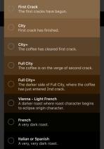 Torrar café em casa - App permite escolha do perfil de torra
