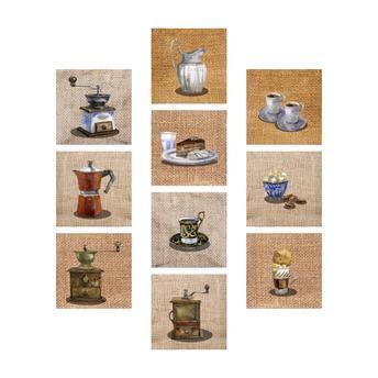 Adesivos para parede café