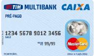 Cartão de crédito pré-pago Cartão Pré-pago TIM Multibank