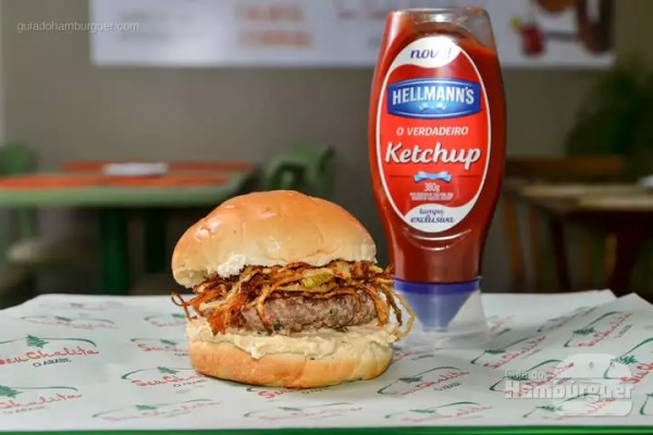 The French: Hambúrguer de Angus com 180g, creme de gorgonzola, cogumelos chamuscados e abobrinha chapeada com azeite de estragão. - R$ 34 - SP Burger Fest - SP Burger Fest - SP Burger Fest
