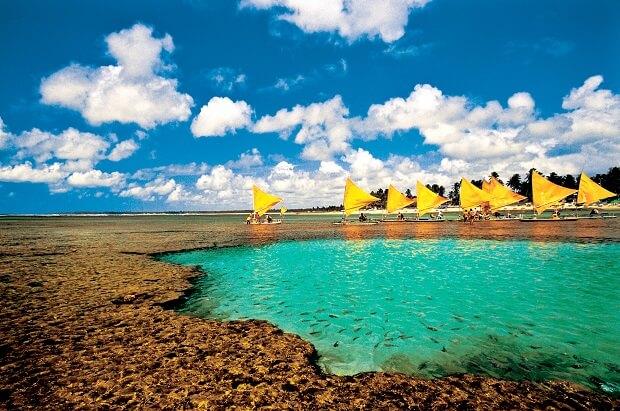 Melhores praias do Brasil: Ipojuca - Praia da Vila de Porto de Galinhas - Pernambuco
