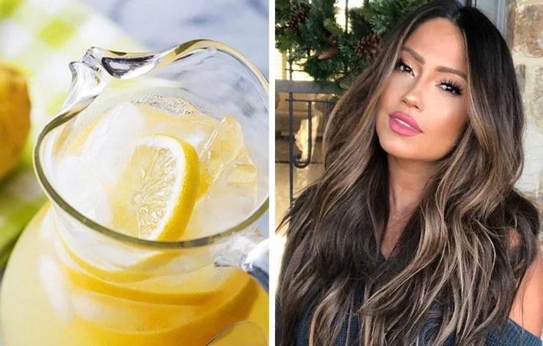 Aclarar el cabello con limón