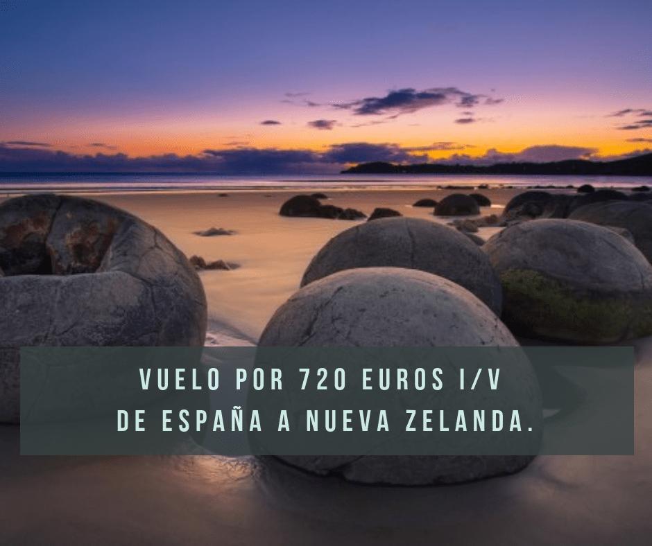 Vuelo de España a Nueva Zelanda por 720 euros i/v
