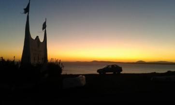 Entardecer em Punta Ballena