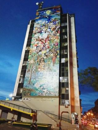 Mural Buenaventura 450 Años al Cosmos