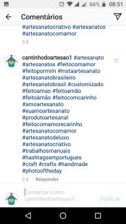 hashatag no posts do instagram