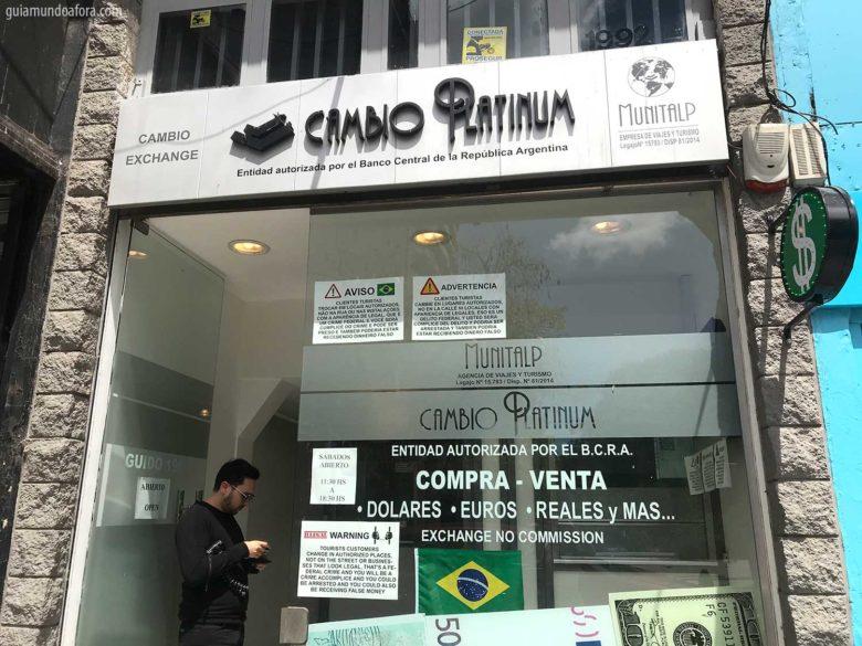 casa de câmbio em Buenos Aires