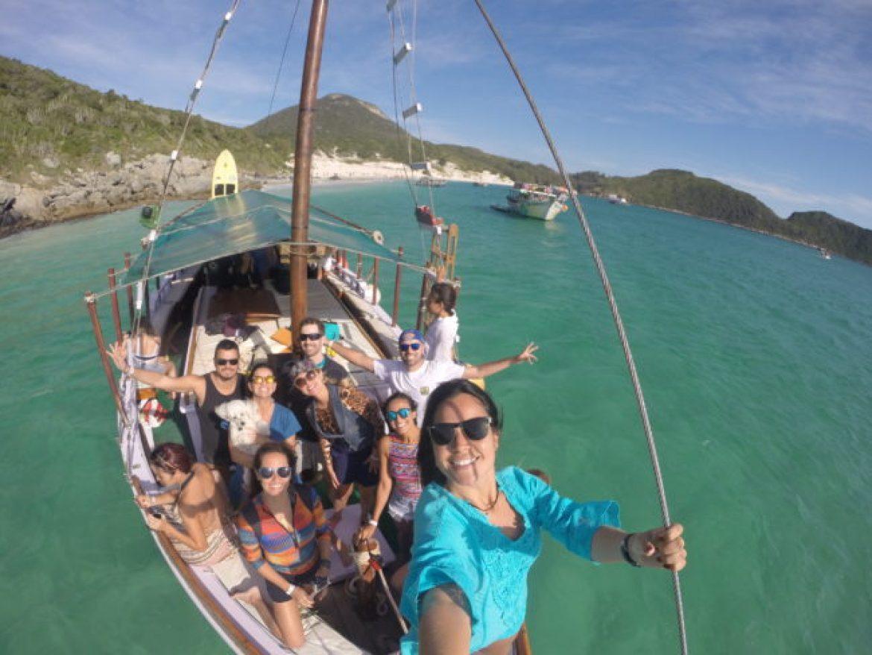Praia da Ilha do Farol - Saveiro Don Ruan