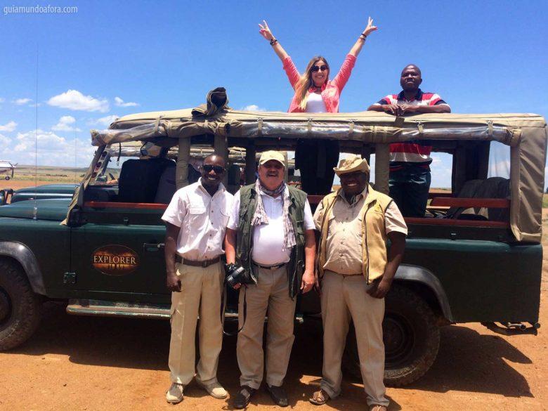 roupas de safari na África