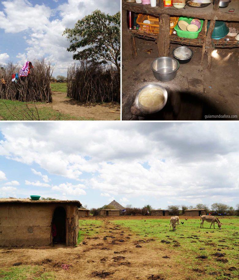Casas da Tribo Masai