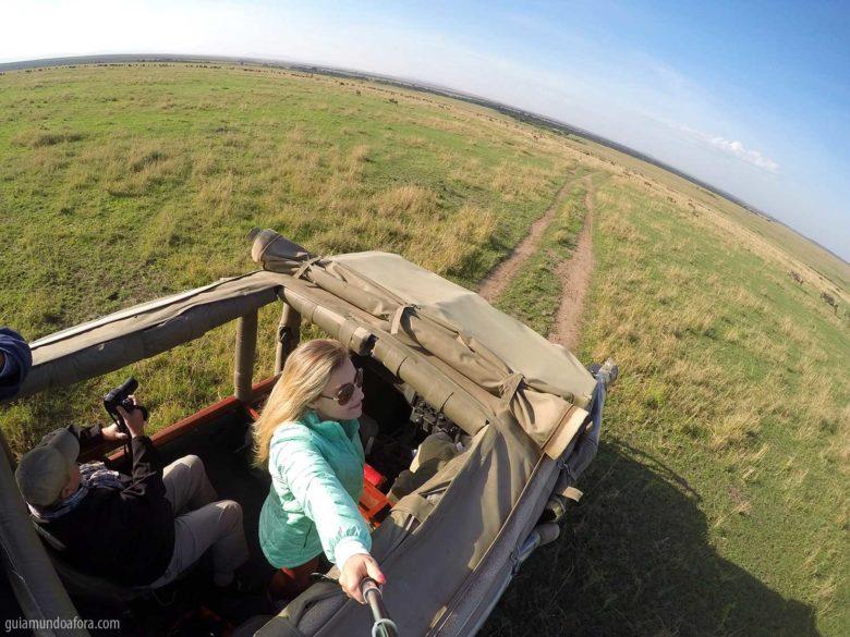Casaco para safari na África