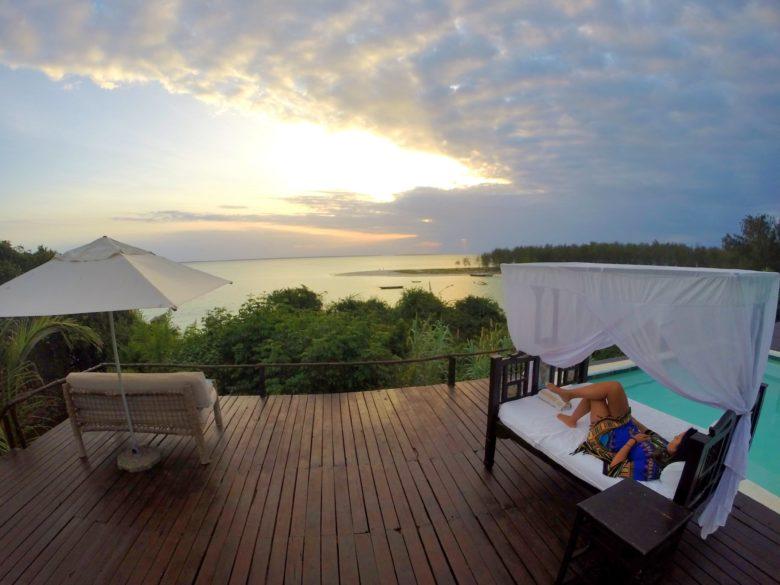 vista de hotel em Zanzibar