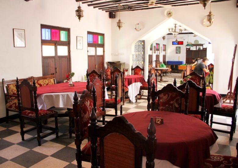 Restaurante e sinuca de hospedagem em Stone Town