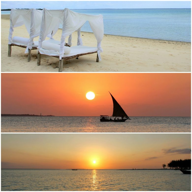 praia de hotel em Nungwi em Zanzibar