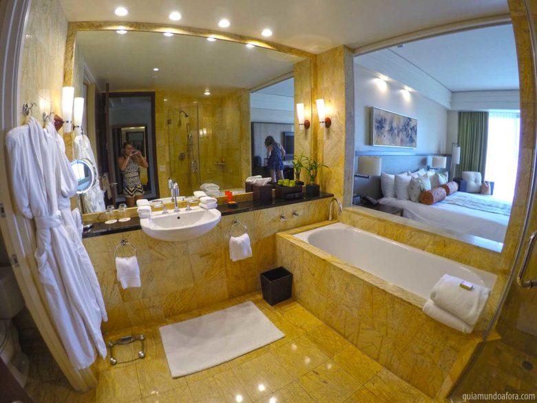 banheiro de hotel em miami Mandarin Oriental