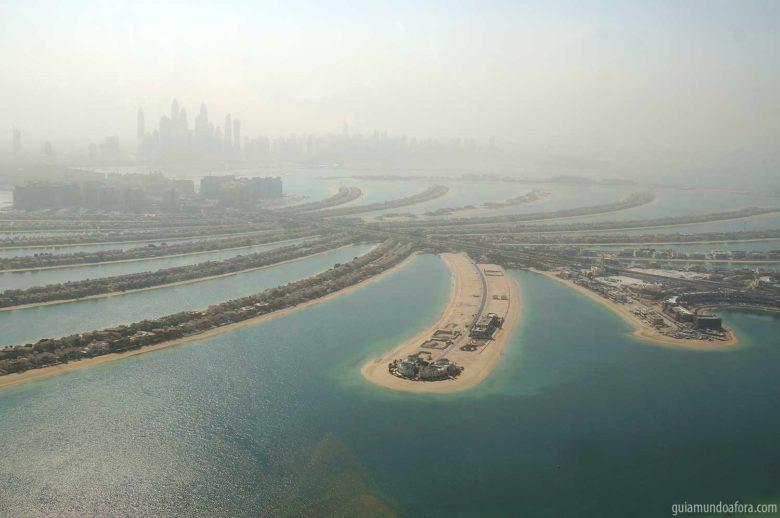 palmeira vista em passeio de helicóptero em Dubai