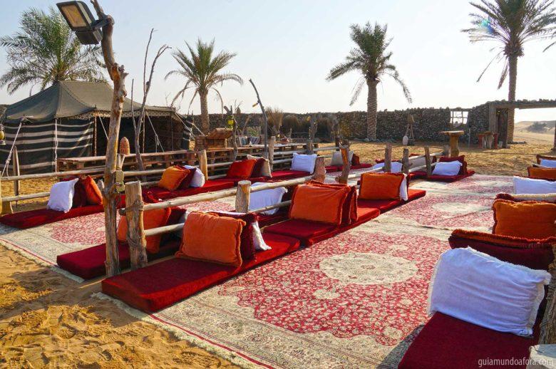 Acampamento do deserto em Dubai