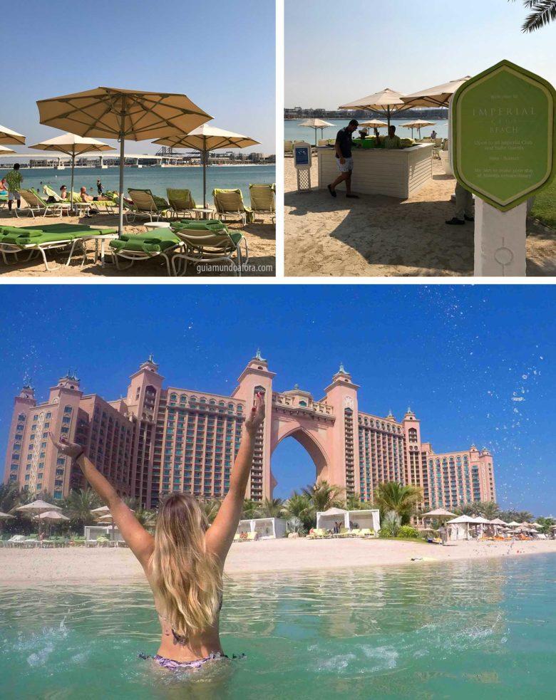 Praia privado do Atlantis em Dubai