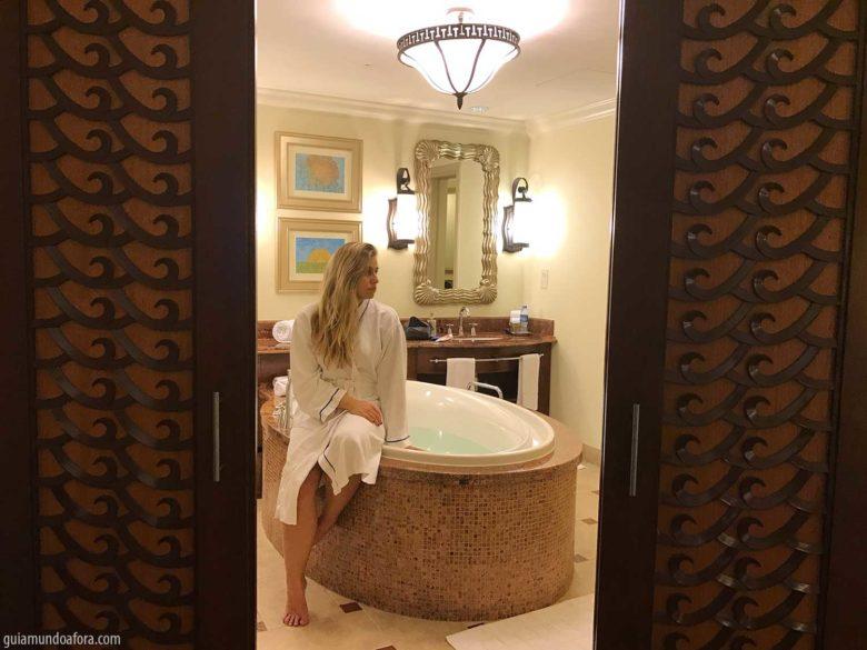 banheiro do Atlantis em Dubai
