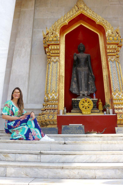 Visitando templos em Bangkok