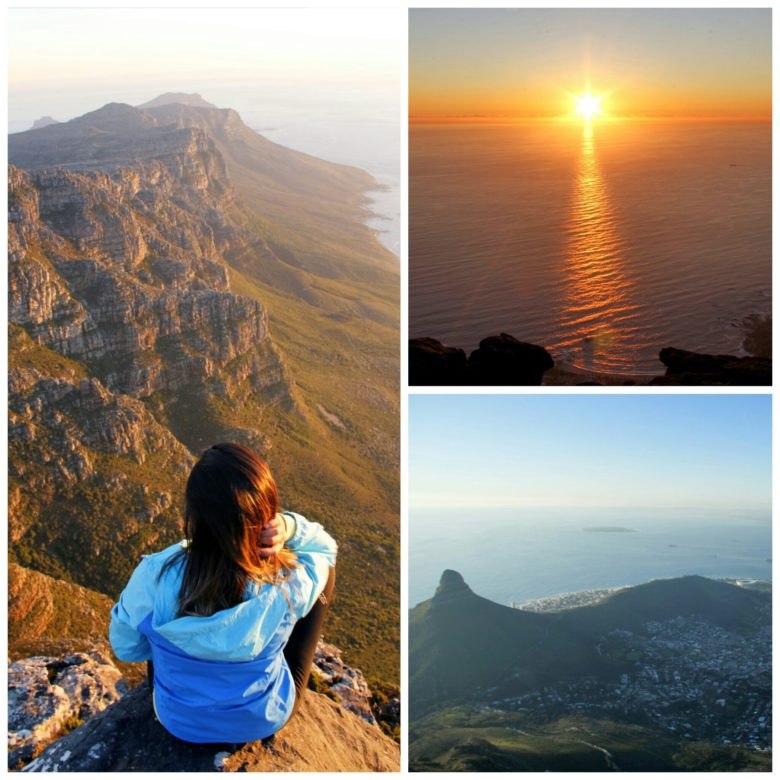 por do sol table mountain