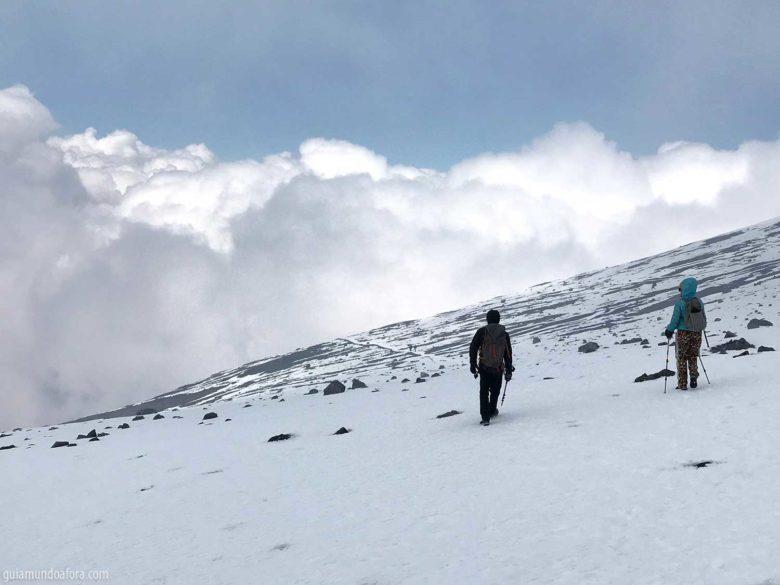 Lascas iniciante em montanhas